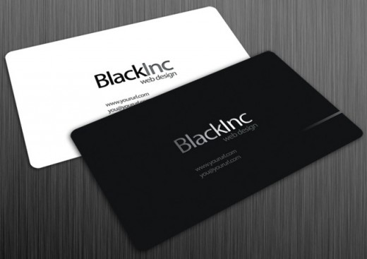 Black Inc free business card