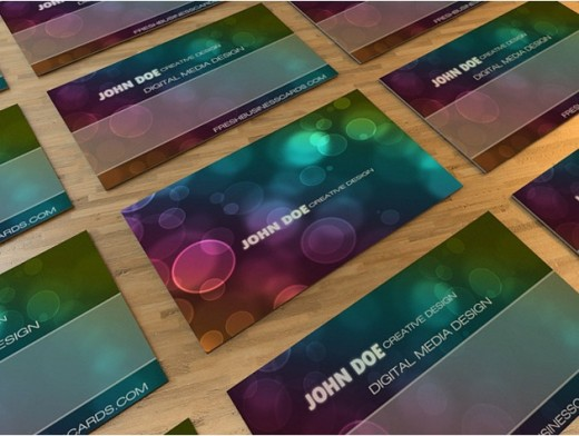 Bokeh Business Card 520x392 30 Creative Free Business Card Templates