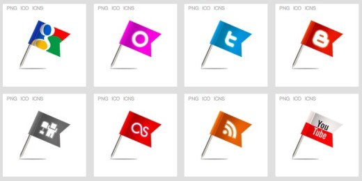 Flag-Social-Media-Icon-Set
