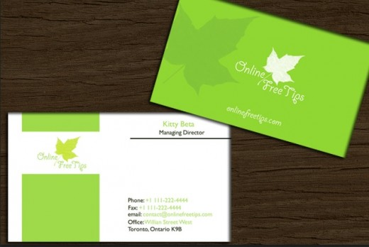 Flower leaf Business Card