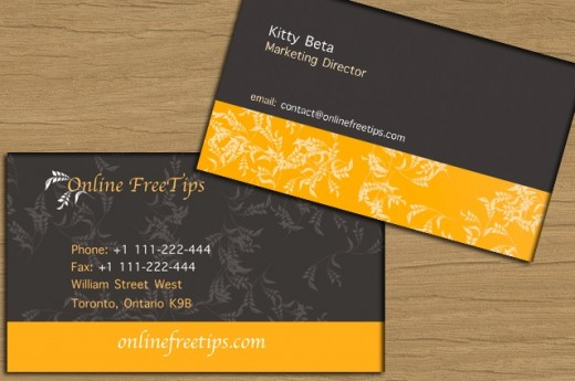 Flower pattern business card