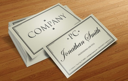 Free Business Card PSD v4 520x327 30 Creative Free Business Card Templates