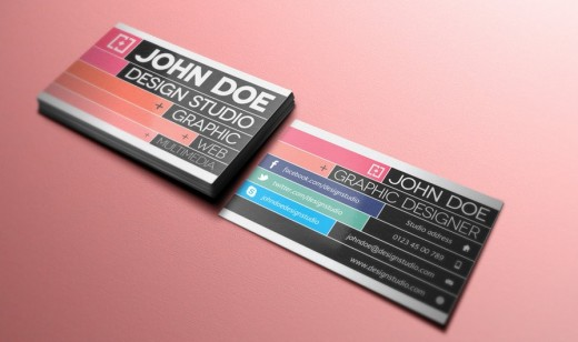 Free Creative Business Card v3 520x308 30 Creative Free Business Card Templates