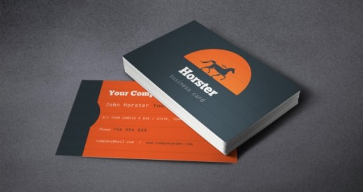 Free Industrial Business card 520x275 30 Creative Free Business Card Templates