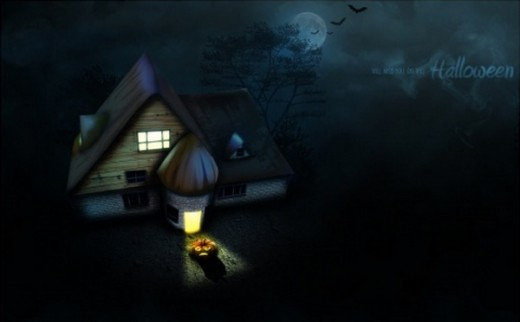 Halloween House wallpaper