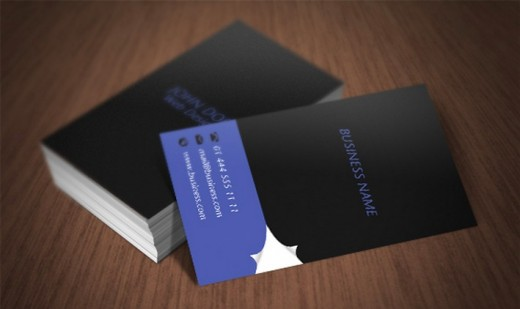 Page Curl Business Card