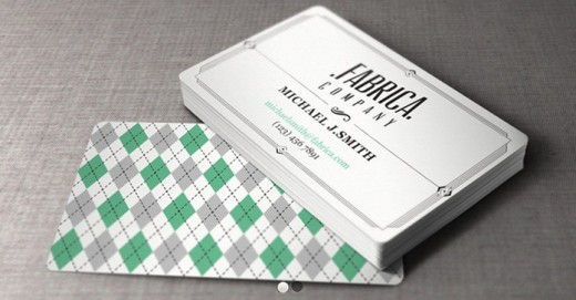 Retro Business Card 520x271 30 Creative Free Business Card Templates