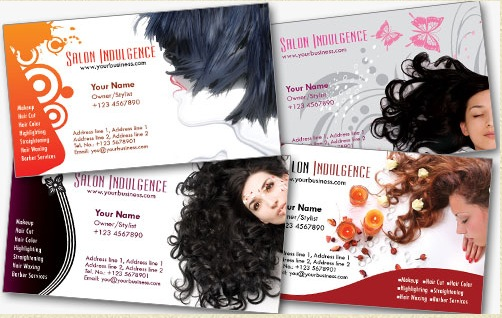 Salon Business card template 30 Creative Free Business Card Templates