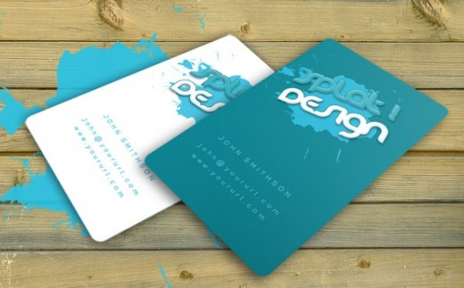 Splat Business Card with PSD 520x323 30 Creative Free Business Card Templates