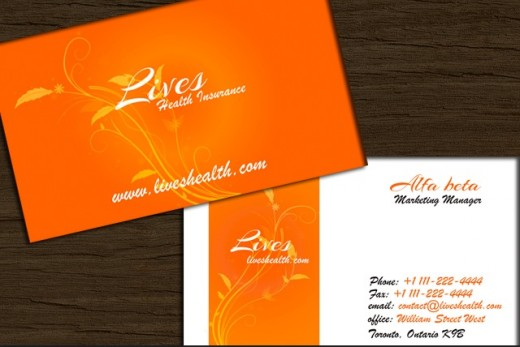 Swirl flower Business card