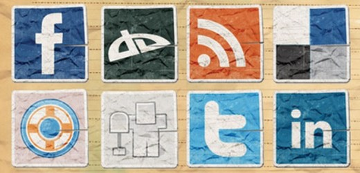Vintage Social Media Icons for Bloggers
