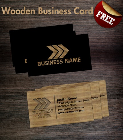 Wooden business card Template 30 Creative Free Business Card Templates