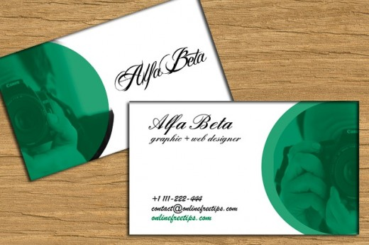 turn green business card