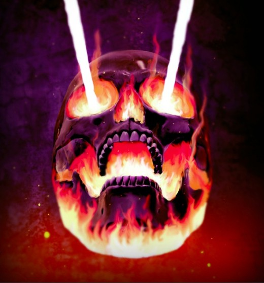 Flaming Skull Photoshop