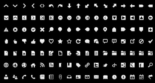 Free Wireframe Toolbar Icons