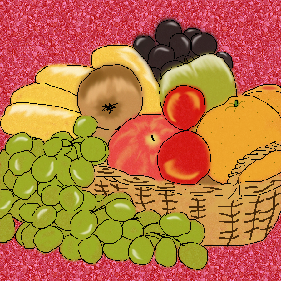 Thanks Giving Fruit Basket Clip ArtFruits Basket Clipart