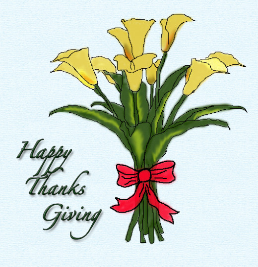 Thanks Giving Flower Clip art
