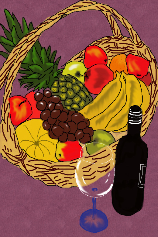 Thanks Giving Fruit Basket Clip art
