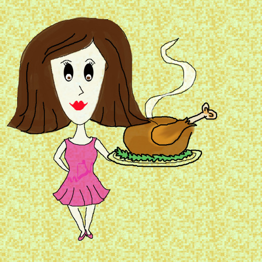 Thanks Giving Lady Clip art