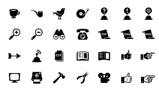 free-retro-icon-set