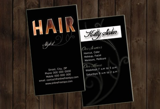 hair stylist business card 2