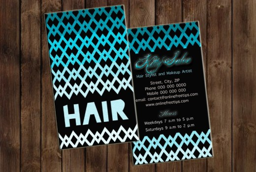 hair stylist business card 4