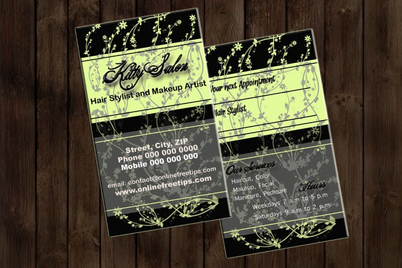 hair stylist business card 5