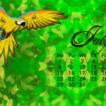 July 2013 Calendar as Wallpaper